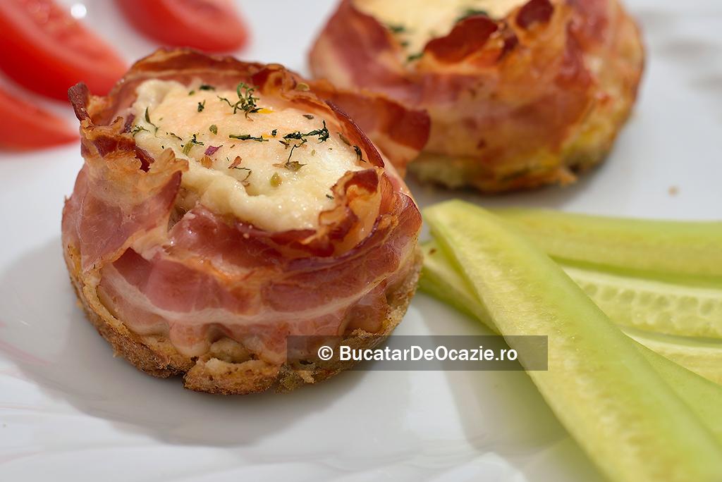 Bacon cu ou la cuptor #9