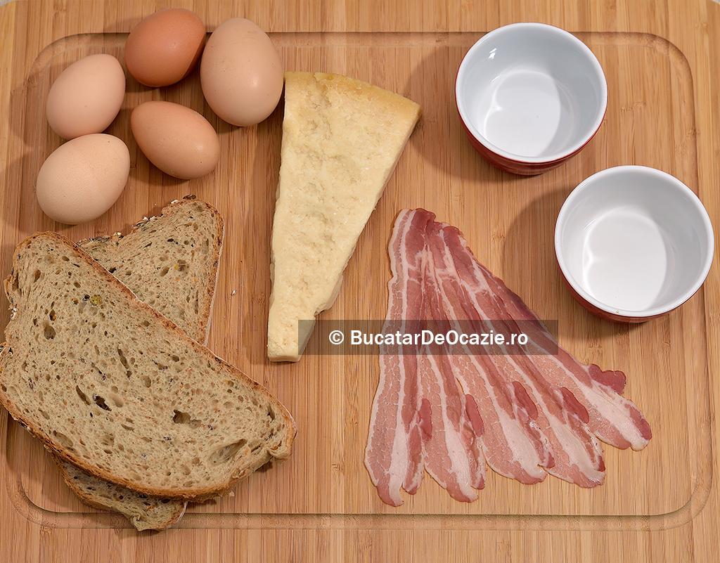 Bacon cu ou la cuptor - ingrediente
