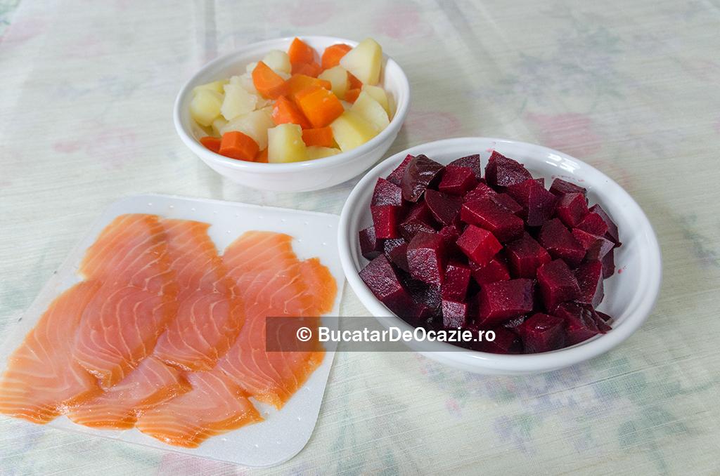 Salata de legume cu somon reteta retetea 2