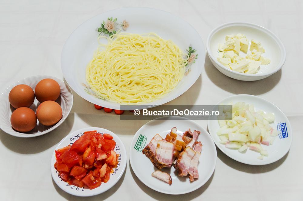 Omleta cu spaghetti - ingrediente